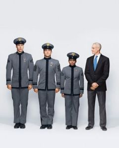 Jim Collins and cadets. Inc photo